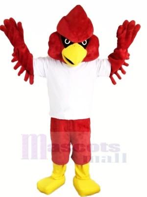Rouge Forte Aigle Mascotte Les costumes Dessin animé