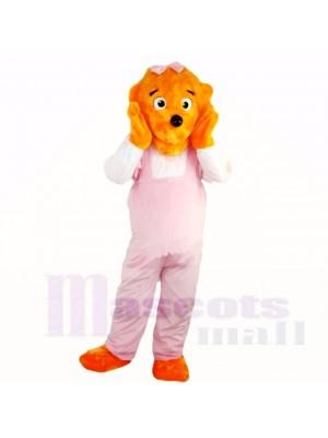 Fille Drôle Lion avec Rose Combinaisons Costumes De Mascotte Dessin animé