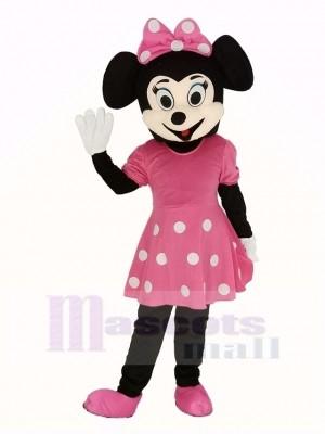 Rose Minnie Mouse Adulte Mascotte Costume
