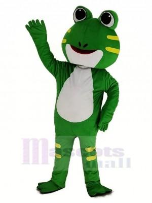 Mignonne vert Grenouille Mascotte Costume