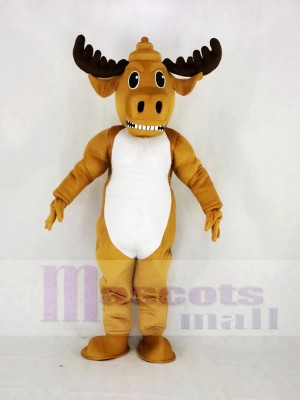 Fort Puissance Muscly élan Mascotte Costume Dessin animé