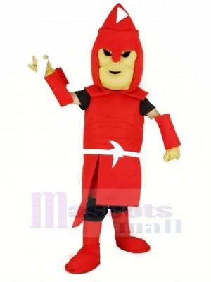 rouge Titan spartiate Mascotte Costume Adulte
