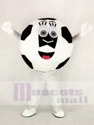 Noir et blanc Football Mascotte Costume École