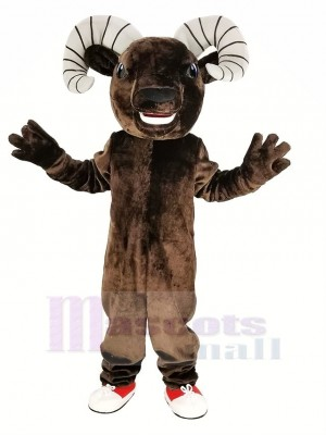 Sombre marron sport RAM Mascotte Costume Animal