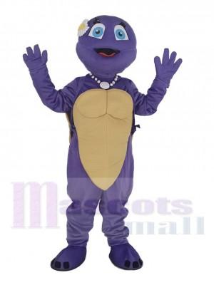 Mauve Femelle Tortue Mascotte Costume Animal
