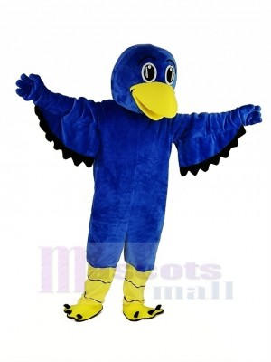 Bleu Faucon Mascotte Costume Animal