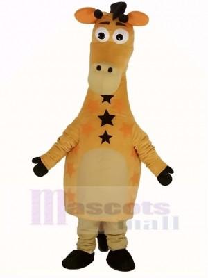 Mignonne Jaune Girafe Mascotte Costume