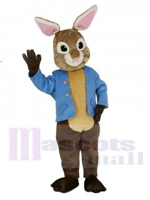 marron et gris Peter Lapin Mascotte Costume