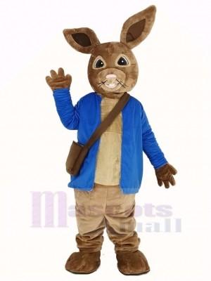 Peter lapin dans Bleu Manteau Mascotte Costume