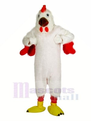 Fort blanc poulet Mascotte Les costumes Dessin animé
