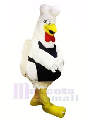 Mignonne blanc poulet Mascotte Les costumes Dessin animé