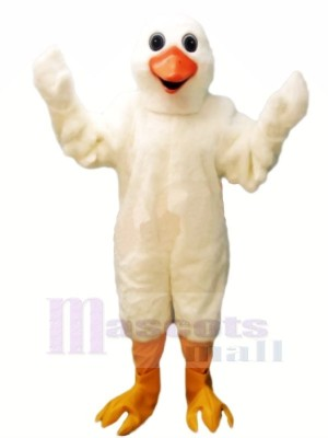 Mignonne blanc OIE Mascotte Les costumes Dessin animé