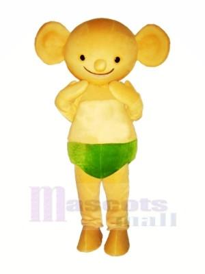 Jaune Bébé Koala Mascotte Les costumes Dessin animé
