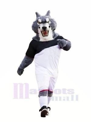 Football Loup Mascotte Déguisements Dessin animé