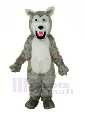 Peu gris Loup Mascotte Déguisements Dessin animé
