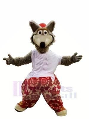 Drôle sport Loup Mascotte Déguisements Dessin animé