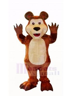 Braun Bär Zahl Mascha Maskottchen Kostüme Karikatur
