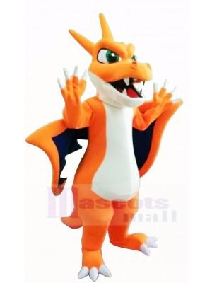 Mignonne Orange Dragon de feu Pokémon Mascotte Déguisements Dessin animé