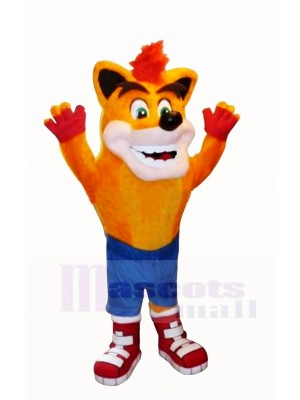 crash Bandicoot Loup Mascotte Costume Dessin animé