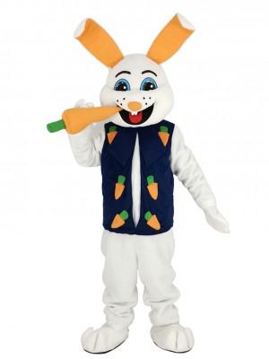 Pâques lapin avec Carotte Mascotte Costume Adulte