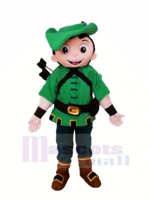 Heroe Robin Dans vert Mascotte Costume Dessin animé