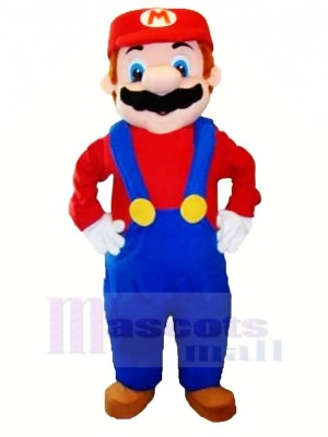 Marrant Personnage Mario Mascotte Costume Dessin animé