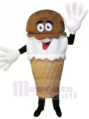Trempé à la main La glace Crème Mascotte Costume Dessin anim