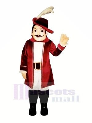 Cavalier dans rouge Mascotte Costume Gens