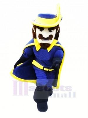 Cavalier dans Bleu Mascotte Costume Gens