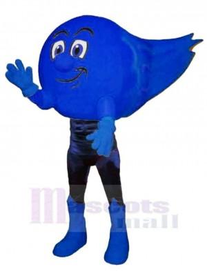 Bleu Comète Mascotte Costume Dessin animé