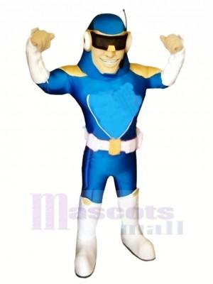 Fort Bleu Capitaine Mascotte Costume Gens