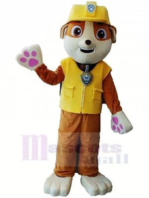 Pat Patrouille Paw Patrol Rubble Mascotte Costume Dessin Animé