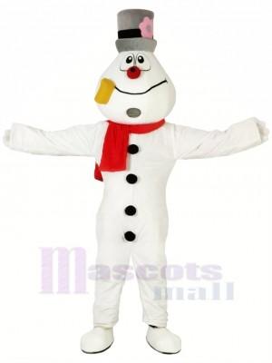Drôle Bonhomme de neige Mascotte Les costumes Dessin animé Noël