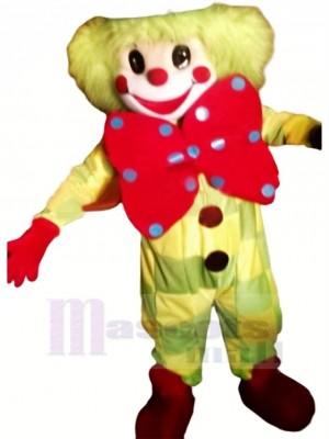 Pitre Avec Gros Arc Mascotte Costume Dessin animé