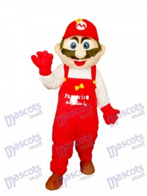 Mario avec blanc vêtements Mascotte Adulte Costume Dessin animé Anime