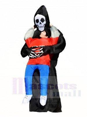 SKull Fantôme Porter Moi sur Démon Gonflable Halloween Les costumes pour Adulte