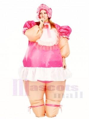 Gonflable AdulteLes costumes Rose Bébé Poupée Fête Costume