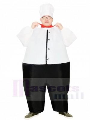 Gros Chef cuisinier Gonflable Les costumes Restaurant Promotion Costume pour Adulte