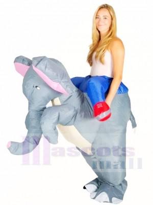 Gris l'éléphant Porter moi Balade Sur Gonflable Halloween Noël Les costumes pour Adultes