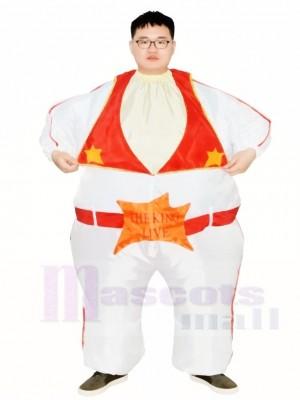 Elvis Presley Chanteur le Roi de Roche et Rouleau Gonflable Halloween Noël Les costumes pour Adultes