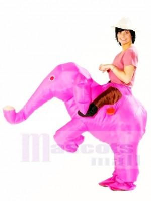 Porter moi Balade Sur Rose l'éléphant Gonflable Halloween Noël Les costumes pour Adultes