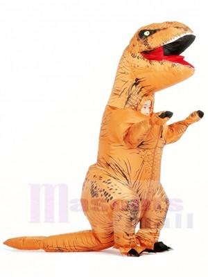 marron T-REX Dinosaure Gonflable Halloween Noël Les costumes pour Des gamins
