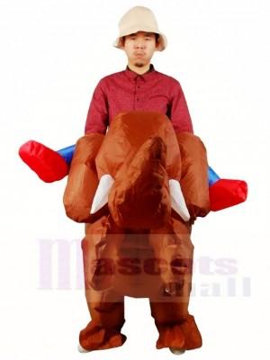 Balade sur marron l'éléphant Gonflable Halloween Noël Les costumes pour Adultes