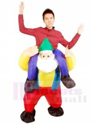 Balade sur Jardin Gnome Elfe Gonflable Halloween Noël Les costumes pour Adultes