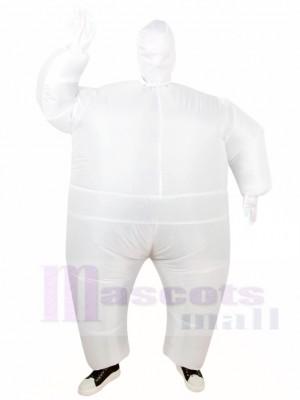 blanc Plein Corps Costume Gonflable Halloween Noël Les costumes pour Adultes