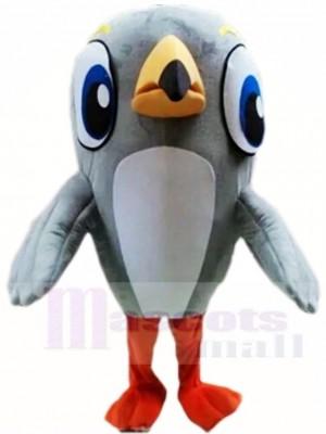 Gris Pivert Oiseau Mascotte Les costumes Animal