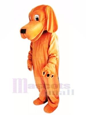 marron Chien avec Longue Oreilles Mascotte Les costumes Dessin animé