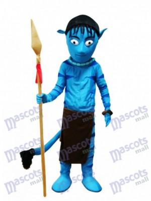 Déguisement de mascotte d'Avatar bleu Alien