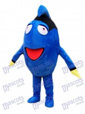 Découverte Dory Royal Bleu Soie Mascotte Costume Dessin animé Personnage