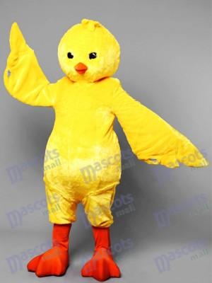 Costume de mascotte de poulet jaune fantastique Animal